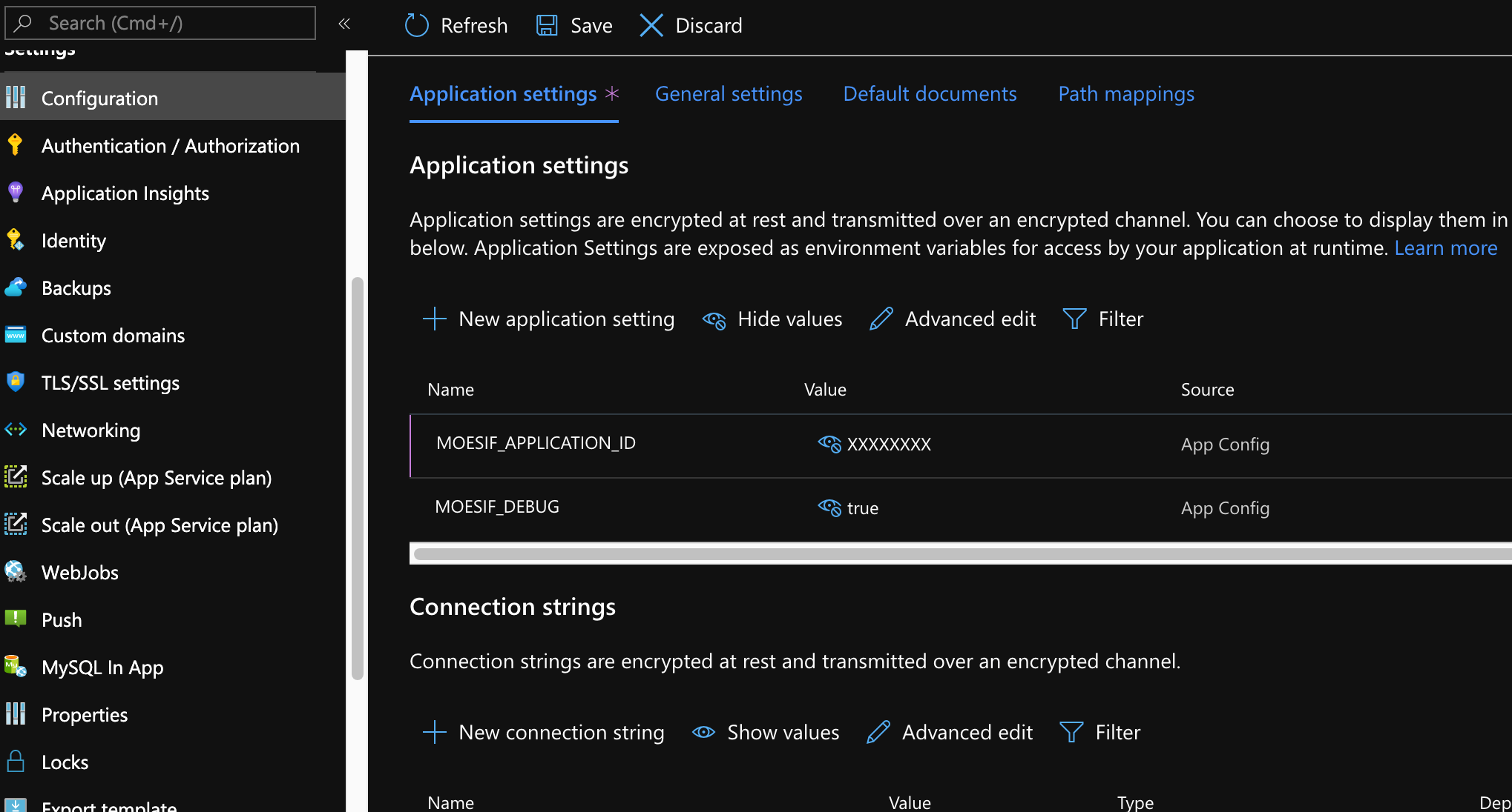 Azure Portal Add Extension