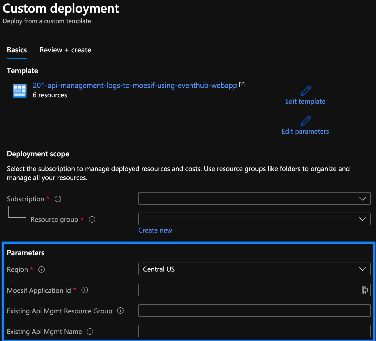 Create a Custom Deployment in Azure